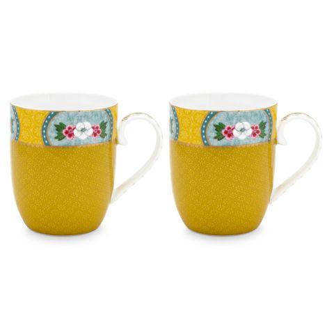 PIP Studio Kleine Tasse Blushing Birds Yellow 145ml 2er-Set