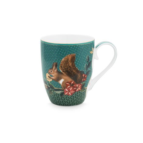 PIP Studio Große Tasse Winter Wonderland Squirrel Green 350ml