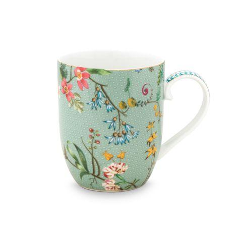 PIP Studio Kleine Tasse Jolie Flowers Blue