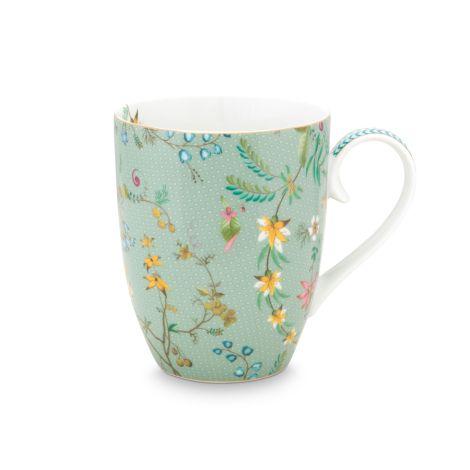 PIP Studio Große Tasse Jolie Flowers Blue