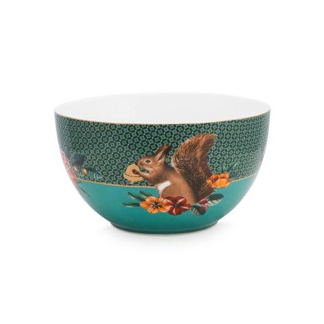 PIP Studio Schüssel Winter Wonderland Squirrel Green 18cm