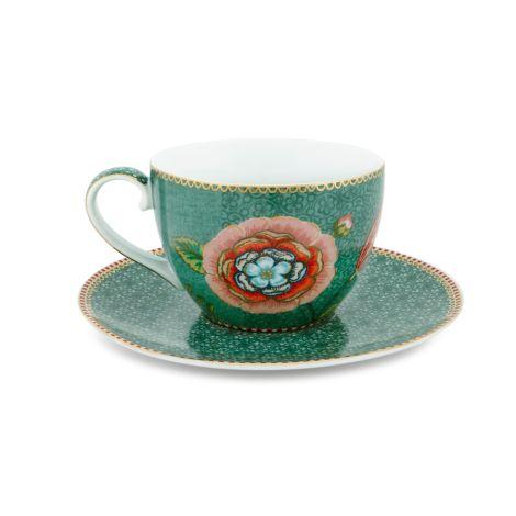 PIP Studio Cappuccino-Tasse mit Unterteller Spring to Life Green
