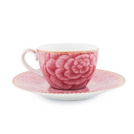 PIP Studio Espressotasse mit Unterteller Spring to Life Pink