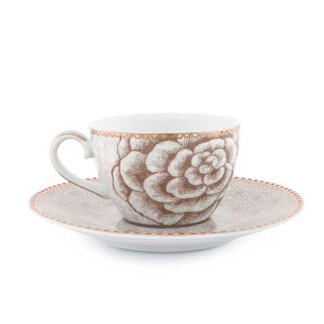 PIP Studio Espressotasse mit Unterteller Spring to Life Off White