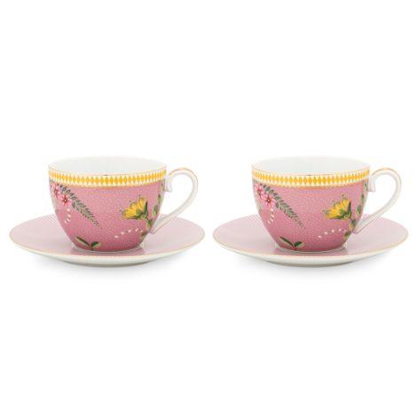 PIP Studio Tasse mit Unterteller La Majorelle Pink 280ml 2er-Set