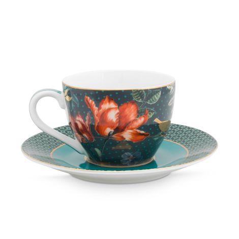 PIP Studio Espressotasse & Unterteller Winter Wonderland Overall Dark Blue 120ml