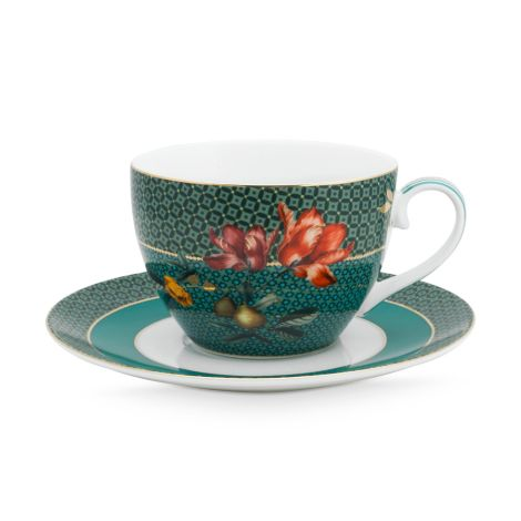 PIP Studio Tasse & Unterteller Winter Wonderland Bird Green 280ml