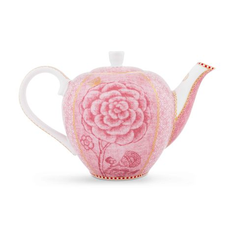 pip studio kleine teekanne spring to life pink online kaufen emil paula. Black Bedroom Furniture Sets. Home Design Ideas