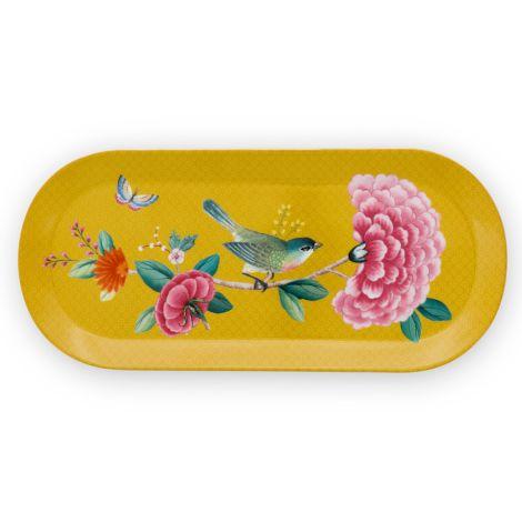 PIP Studio Tortenplatte länglich Blushing Birds Yellow