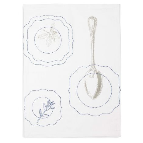 PIP Studio Geschirrtuch Royal Embroidery Plates Spoon •