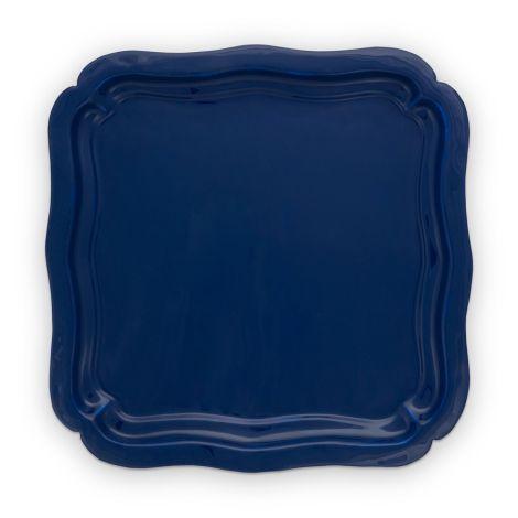 PIP Studio Tablett Emaille Blue 40x40cm