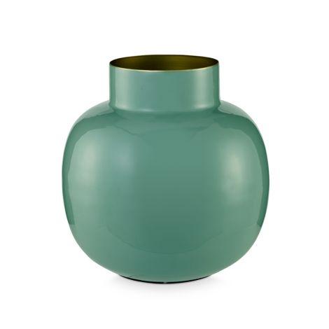 PIP Studio Vase Metall Rund Green 25 cm