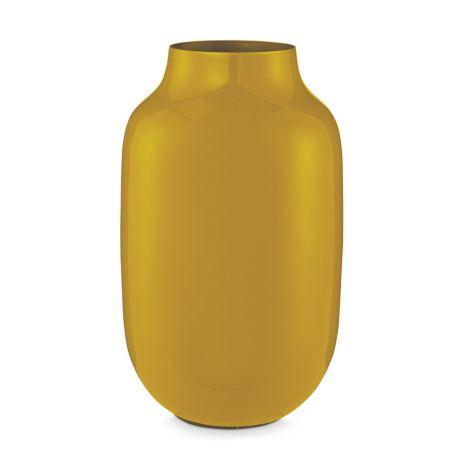 PIP Studio Vase Metall Oval Yellow 30 cm