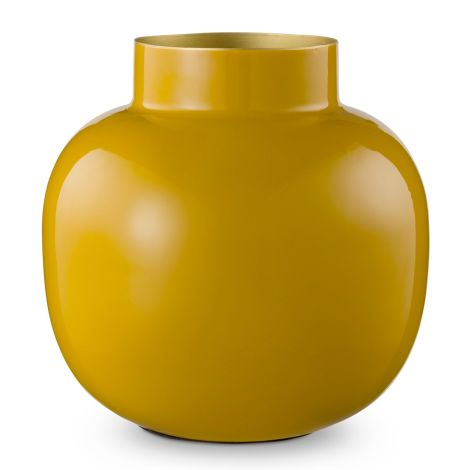 PIP Studio Vase aus Metall Round Yellow