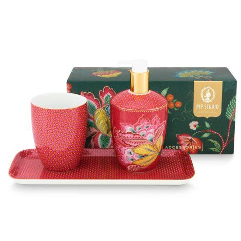 PIP Studio Badezimmer-Accessoires Twinkle Star Pink 3er-Set