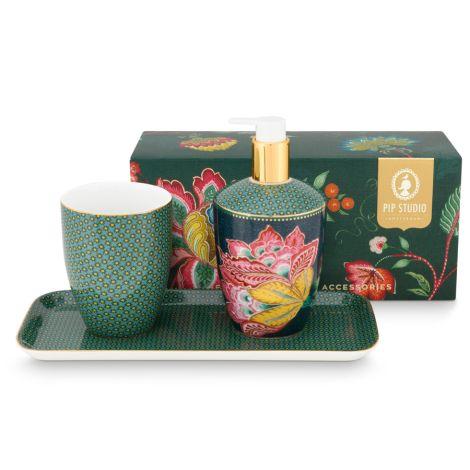 PIP Studio Badezimmer-Accessoires Twinkle Star Green 3er-Set