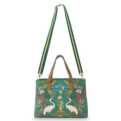 PIP Studio Tasche Shopper Small Heron Homage Green