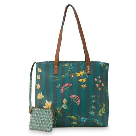 PIP Studio Tasche Shopper Medium Fleur Grandeur Green
