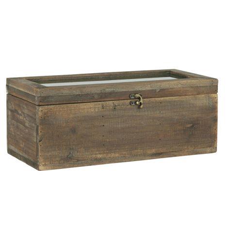 IB LAURSEN Kiste mit Glasdeckel und 3 Fächern