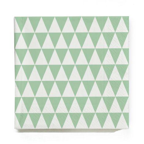 ferm LIVING Triangle Papierservietten - Mint