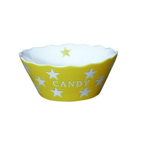 Krasilnikoff Candy Schüssel Star Yellow