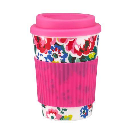 Cath Kidston Travel Mug Spray Flowers White •