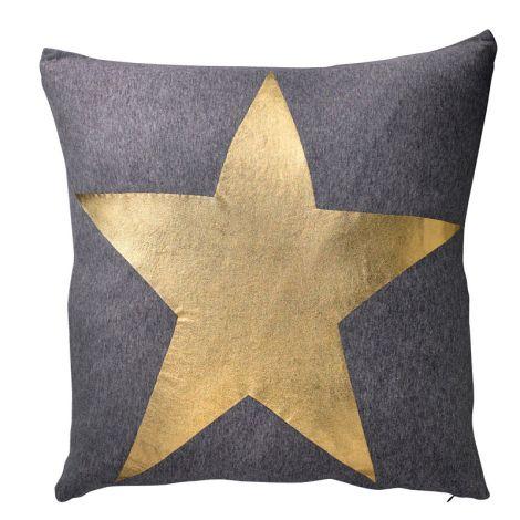 Bloomingville Kissen goldfarbener Stern