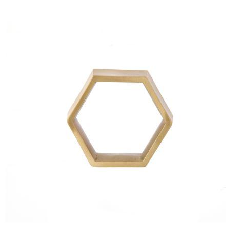 ferm LIVING Hexagon Serviettenringe 4er Set •