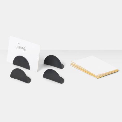 ferm LIVING Kartenhalter Black Messing 4er-Set •