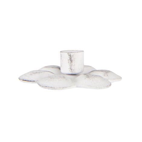 IB LAURSEN Kerzenhalter Blume für schmale Kerze Weiß