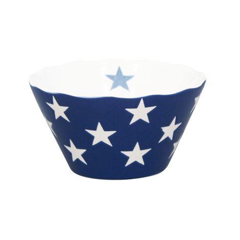 Krasilnikoff Schüssel Happy Bowl Stars Dark Blue S