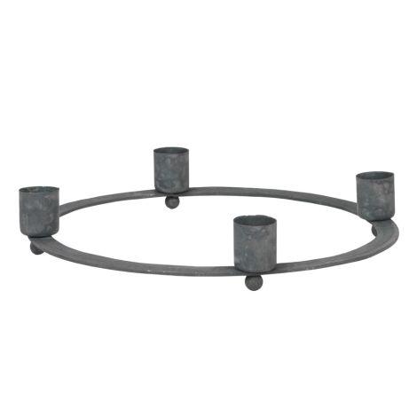 IB LAURSEN Advent Kerzenhalter für Stabkerzen Grau/ Zink