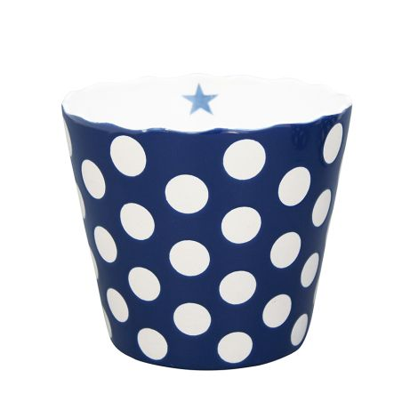 Krasilnikoff Schüssel Happy Bowl Dots Dark Blue XL