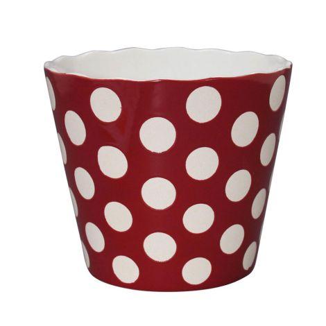 Krasilnikoff Schüssel Happy Bowl Dots Red XL