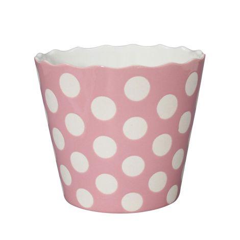 Krasilnikoff Schüssel Happy Bowl Dots Pink XL