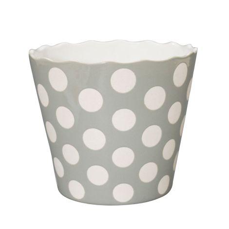 Krasilnikoff Schüssel Happy Bowl Dots Light Grey XL