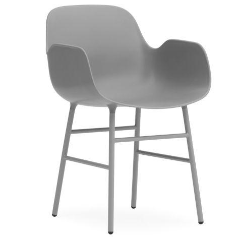 Normann Copenhagen Form Lehnstuhl Steel/Grey