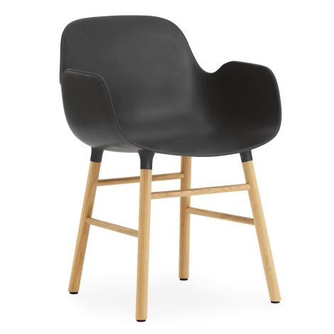 Normann Copenhagen Form Lehnstuhl Oak/Black