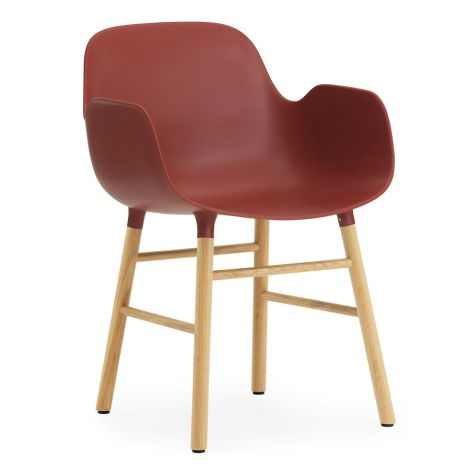 Normann Copenhagen Form Lehnstuhl Oak/Red