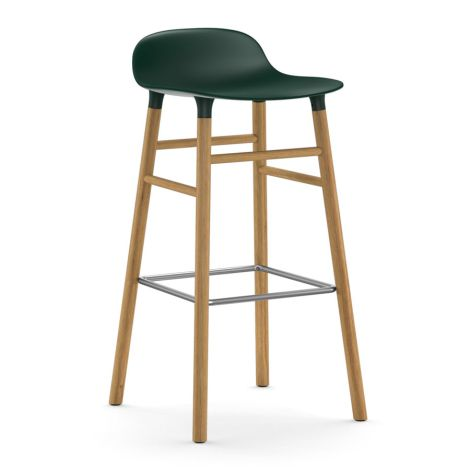 Normann Copenhagen Form Barstuhl 75cm Oak/Green