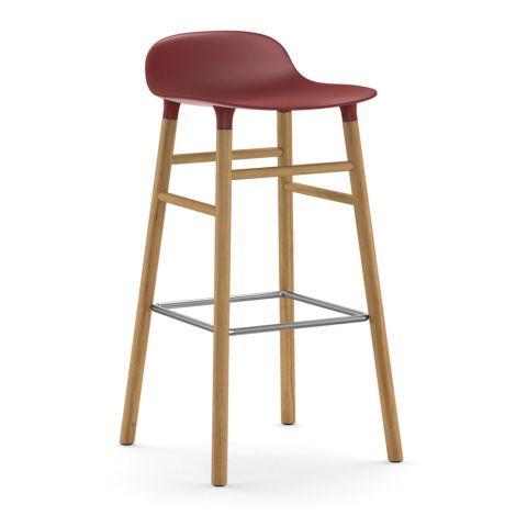 Normann Copenhagen Form Barstuhl 75cm Oak/Red