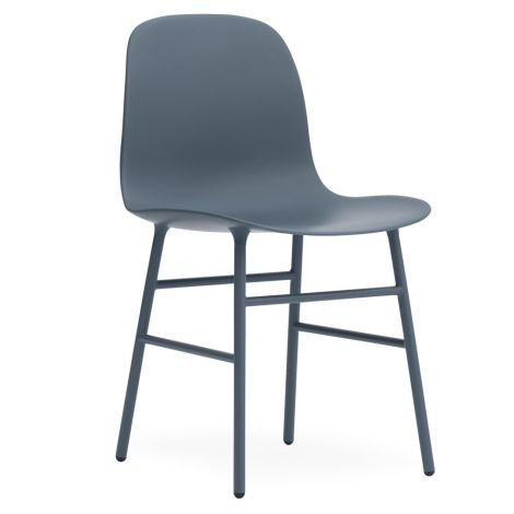 Normann Copenhagen Form Stuhl Steel/Blue