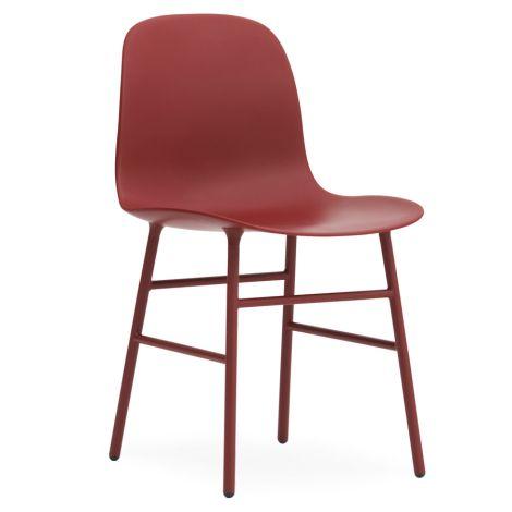 Normann Copenhagen Form Stuhl Steel/Red