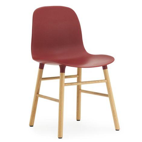 Normann Copenhagen Form Stuhl Oak/Red