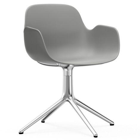 Normann Copenhagen Form Bürostuhl/Drehstuhl mit Armlehne Swivel Grey
