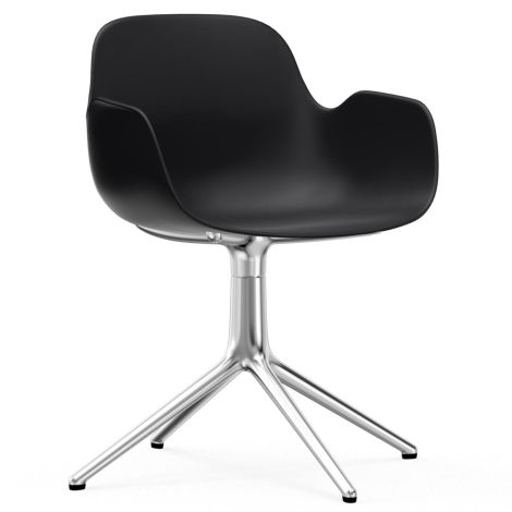 Normann Copenhagen Form Bürostuhl/Drehstuhl mit Armlehne Swivel Black