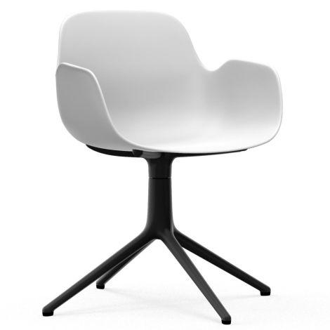 Normann Copenhagen Form Bürostuhl/Drehstuhl mit Armlehne Swivel White/Black