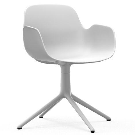 Normann Copenhagen Form Bürostuhl/Drehstuhl mit Armlehne Swivel White/White