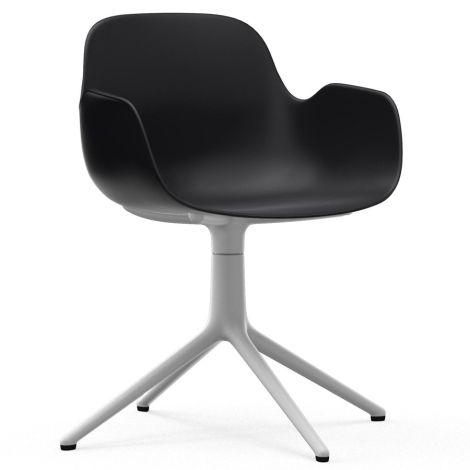 Normann Copenhagen Form Bürostuhl/Drehstuhl mit Armlehne Swivel Black/White