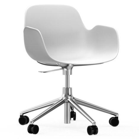 Normann Copenhagen Form Bürostuhl/Drehstuhl mit Rollen Swivel White